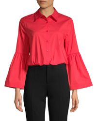 Laundry by Shelli Segal - Bell-sleeve Shirt - Lyst