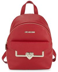 Love Moschino | Heart Faux Leather Backpack | Lyst