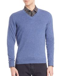 Saks Fifth Avenue - Collection Cashmere V-neck Jumper - Lyst