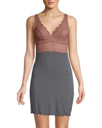 Samantha Chang - Built Up Lace Chemise - Lyst