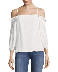 The Vanity Room - Plain Off-the-shoulder Cotton Top - Lyst