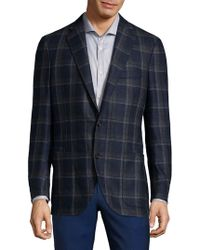 Luciano Barbera - Plaid Wool Sportcoat - Lyst
