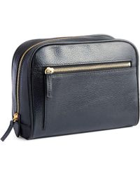 Royce - Genuine Leather Zip Toiletry Bag - Lyst