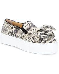 Charlotte Olympia - Gazette Alex Graphic Platform Sneakers - Lyst
