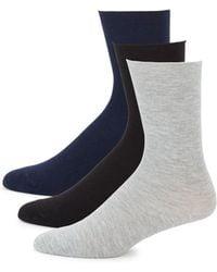 Hue - Three Pack Roll Sock Set - Lyst