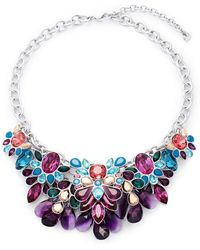 Swarovski - Multi-color Crystal Bib Necklace - Lyst