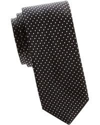 Saks Fifth Avenue - Silk Dot Tie - Lyst