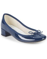 Repetto - Bow Patent Leather Court Shoes - Lyst