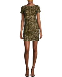 Aidan By Aidan Mattox | Sequined Embroidered Dress | Lyst
