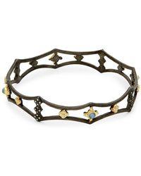 Armenta - Old World Diamond Cutout Bangle Bracelet - Lyst
