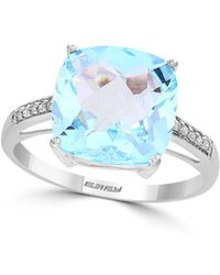 Effy - March 14k White Gold, Sky Blue Topaz & Diamond Ring - Lyst
