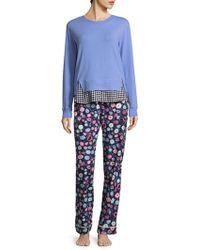 Jane And Bleecker - Graphic Long Sleeve Pyjamas - Lyst