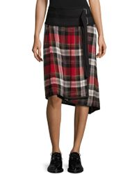 Public School - Ilha Plaid Wrap Skirt - Lyst