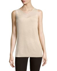 6b6d1e5a3dc3f Lyst - Lafayette 148 New York Wool cashmere Tank in Natural