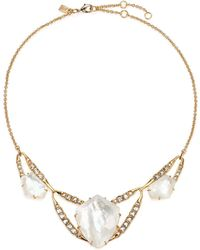Alexis Bittar - Miss Havisham Mosaic Mother-of-pearl & Crystal Geometric Bib Necklace - Lyst