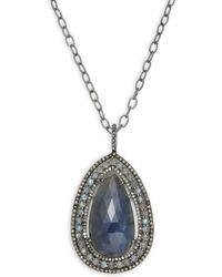 Bavna - Champagne Diamond, Labradorite & Sterling Silver Necklace - Lyst