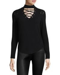 Generation Love - Becca Lace-up Choker Top - Lyst