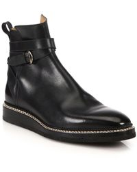 Bally - Leysin Leather Ankle Boots - Lyst