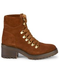 Steven by Steve Madden - Grenada Suede Combat Boots - Lyst