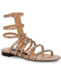 Sergio Rossi - Kimberly Suede & Jewel Gladiator Sandals - Lyst