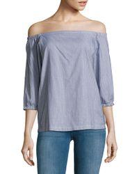 Trina Turk - Darius Off-the-shoulder Neckline Printed Cotton Top - Lyst