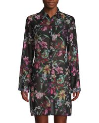 Carmen Marc Valvo - Floral High-low Coverup - Lyst