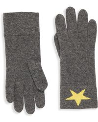 Portolano - Star Rabbit Hair Gloves - Lyst