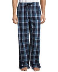 Psycho Bunny - Plaid Cotton Pyjama Trousers - Lyst