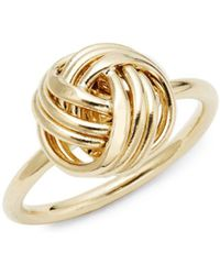 Saks Fifth Avenue - Love Knot 14k Yellow Gold Ring - Lyst