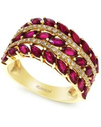 Effy - Amoré Natural Ruby, Diamond And 14k Rose Gold Ring - Lyst