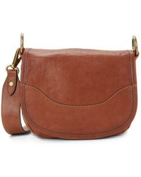Frye - Lucy Leather Saddle Bag - Lyst