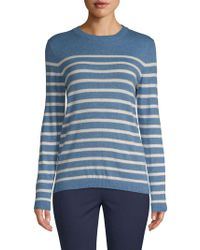 Saks Fifth Avenue Black - Placed Striped Sweater - Lyst