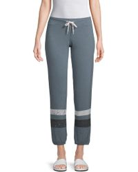 Monrow - Striped Drawstring Pants - Lyst