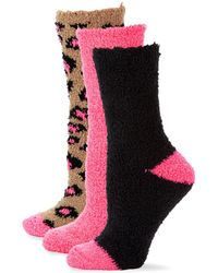 Betsey Johnson - Three-pack Classic Cozy Crew Sock Gift Set - Lyst