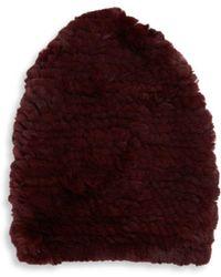 Saks Fifth Avenue - Rex Rabbit Fur Winter Hat - Lyst