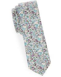 Joe's Collection - Floral Slim Cotton Tie - Lyst