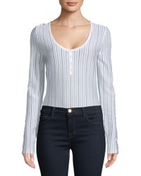 Gabriela Hearst - Laurie Stripe Bodysuit - Lyst