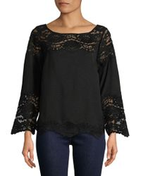 Plenty by Tracy Reese - Lace Bell Sleeve Top - Lyst