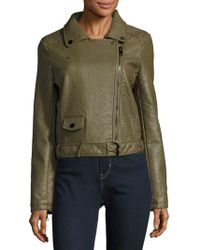 Joe's - Textured Long-sleeve Moto Jacket - Lyst