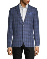 Ben Sherman - Slim Fit Plaid Linen Sportcoat - Lyst