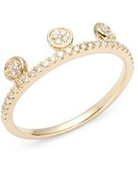 Ron Hami - Dot Diamond & 14k Yellow Gold Tiara Ring - Lyst