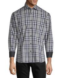 Bertigo - Plaid Cotton Button-down Shirt - Lyst