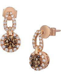 Le Vian - Chocolatier® Chocolate & Vanilla Diamond® Drop Earrings - Lyst