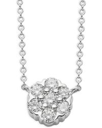 Saks Fifth Avenue - 14k White Gold & Diamond Pendant Necklace - Lyst