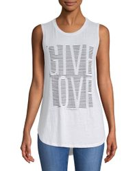 Betsey Johnson - Give Love Stripe High Low Muscle Tank - Lyst