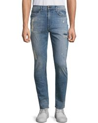 Joe's Jeans - Five-pocket Crane Distressed Straight-fit Jeans - Lyst