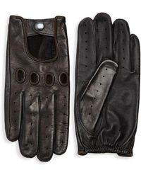 Saks Fifth Avenue - Perforated Leather Driver Gloves - Lyst