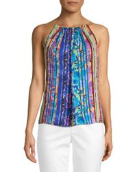 Laundry by Shelli Segal - Multicolored Stripe Sleeveless Top - Lyst