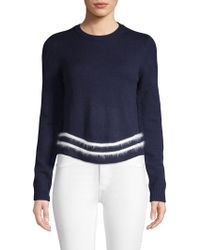 English Factory - Long Sleeve Angora Trim Knit Jumper - Lyst