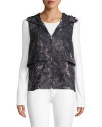 Nanette Lepore - Hooded Zip-front Vest - Lyst